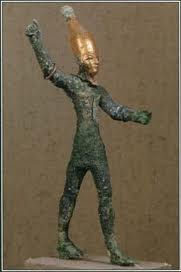 There are varying depictions of Baal. Here's one.