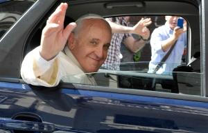 Pope in car